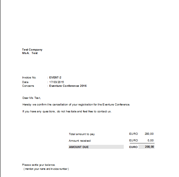 sample invoice letters